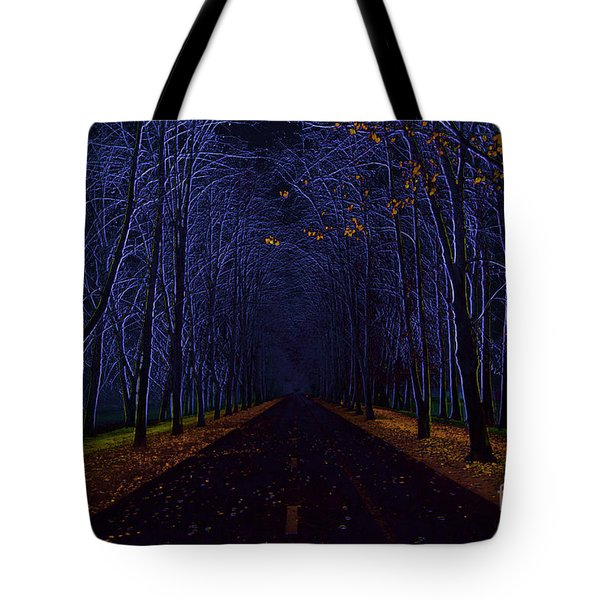Avenue Of Trees Tote Bag by Michal Boubin