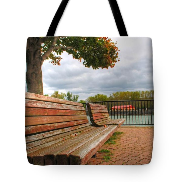 Tote Bag featuring the photograph Awaiting by Michael Frank Jr