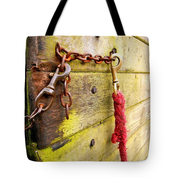 Awaiting The Ride Tote Bag