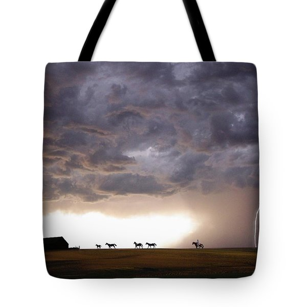Awesome Storm Tote Bag by Bill Stephens