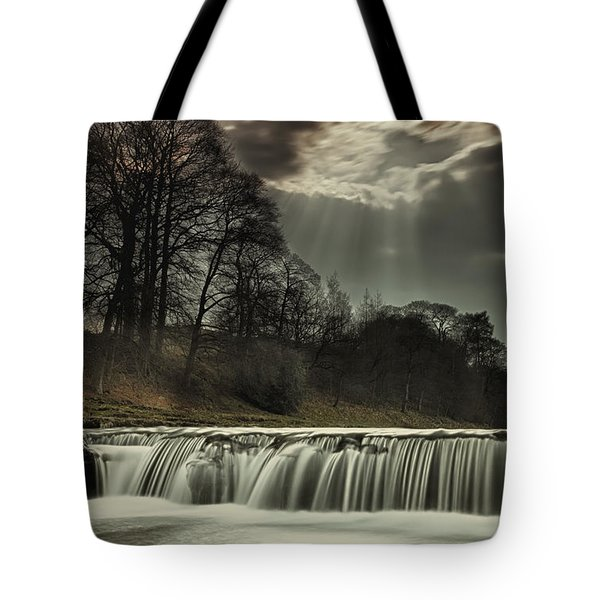 Aysgarth Falls Yorkshire England Tote Bag by John Short