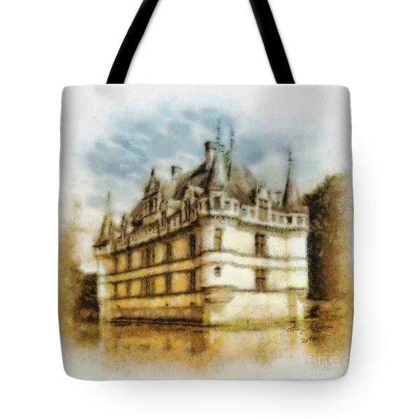 Azay Le Rideau Tote Bag by Mo T