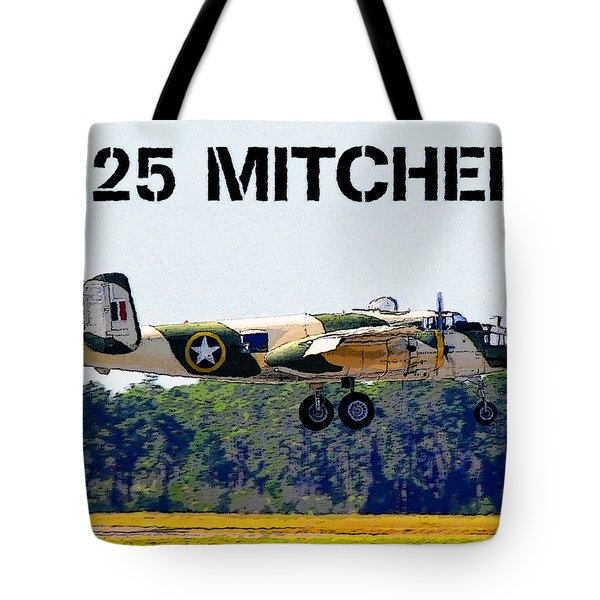 B 25 Mitchell Bomber Tote Bag by David Lee Thompson