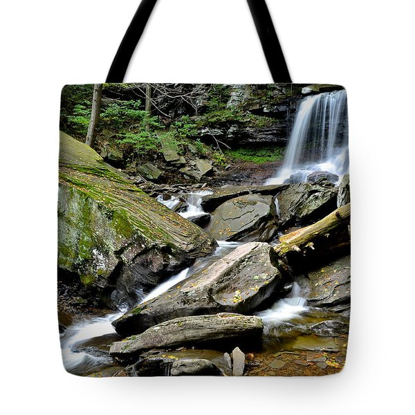 B Reynolds Falls Tote Bag by Frozen in Time Fine Art Photography
