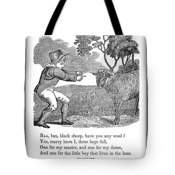 Baa, Baa, Black Sheep, 1833 Tote Bag by Granger