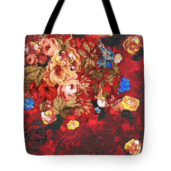 Tote Bag featuring the painting Baba's Garden Lg by Alys Caviness-Gober