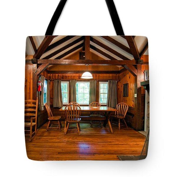 Babcock Cabin Interior 2 Tote Bag by Steve Harrington