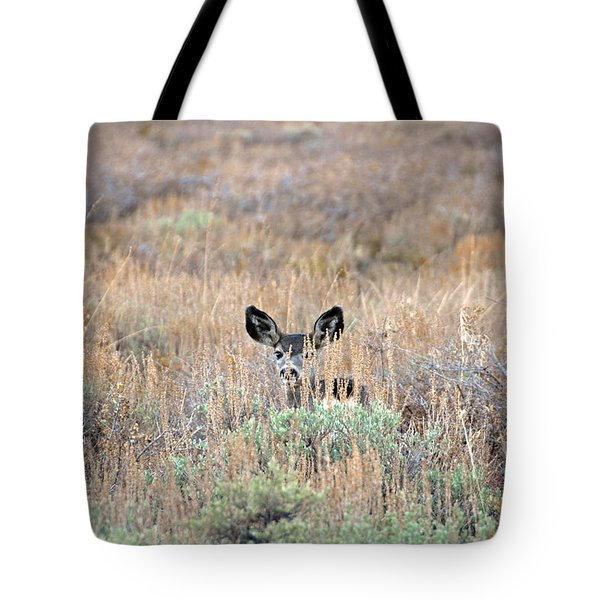 Tote Bag featuring the photograph Babe In Hiding by Lynn Bauer