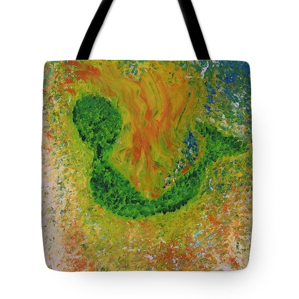 Tote Bag featuring the painting Baby Alien by Lola Connelly