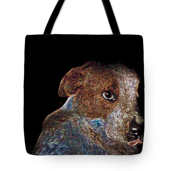Baby Blue Tote Bag by One Rude Dawg Orcutt