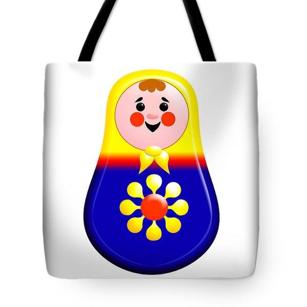 Baby Matrioshka Doll  Tote Bag by Zaira Dzhaubaeva