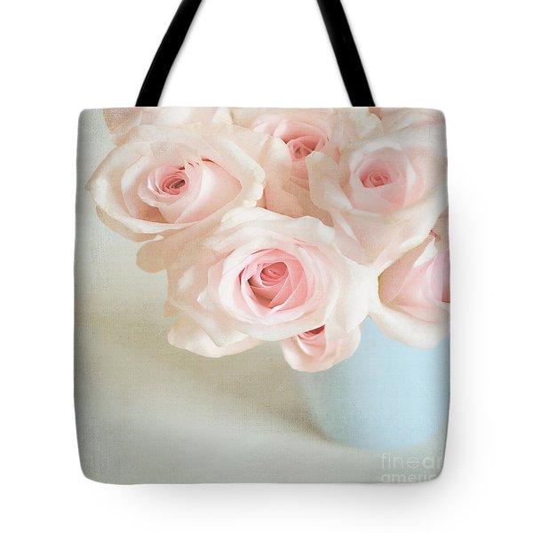 Baby Pink Roses Tote Bag