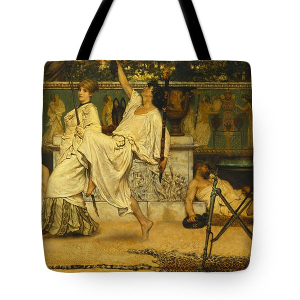 Bacchanal Tote Bag by Sir Lawrence Alma-Tadema