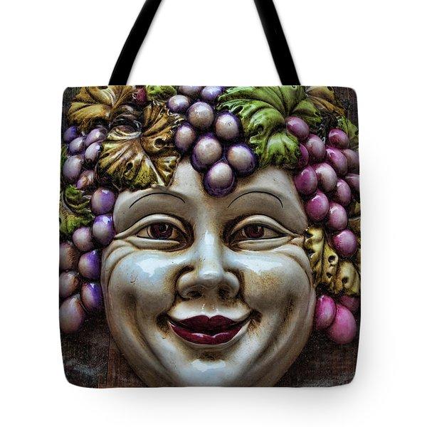 Bacchus God Of Wine Tote Bag by David Smith