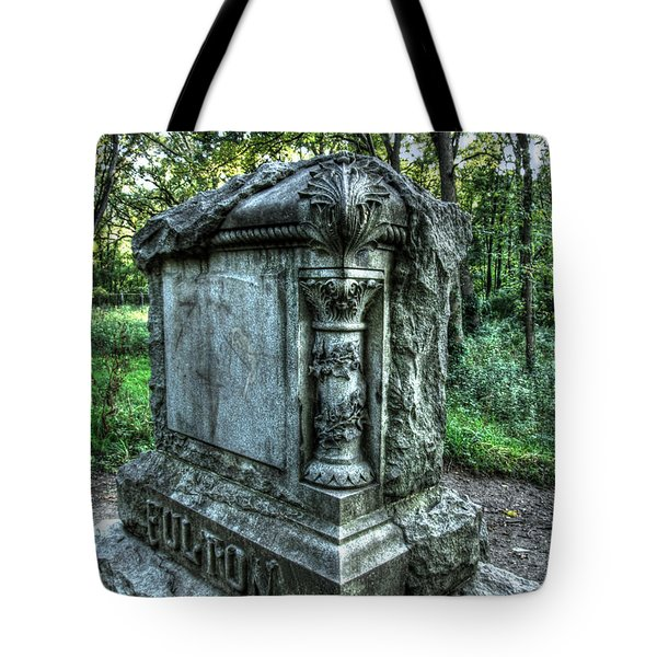 Bachelors Grove Fulton Tomb Tote Bag by Jackie Novak
