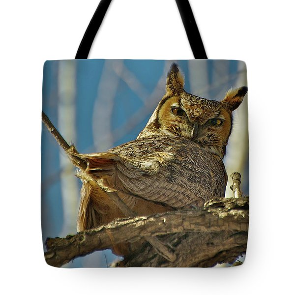 Back At Ya Tote Bag by Stephen  Johnson