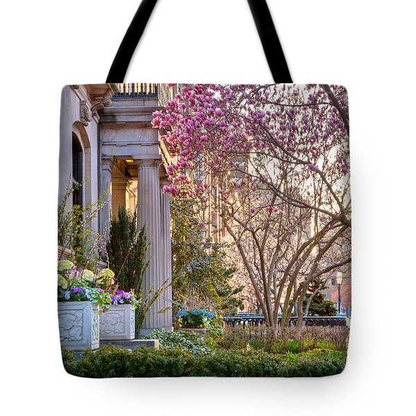 Tote Bag featuring the photograph Back Bay Spring by Susan Cole Kelly