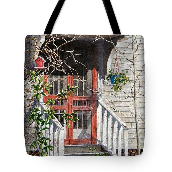 Back Door Friends  Sold Tote Bag