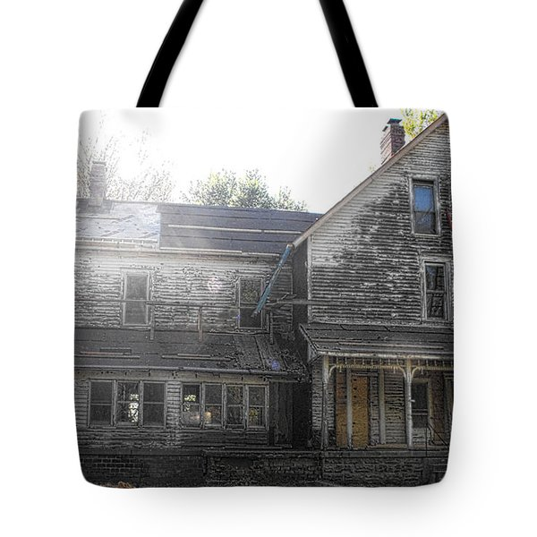 Back Of 1860's Mansion Tote Bag by Kristie  Bonnewell