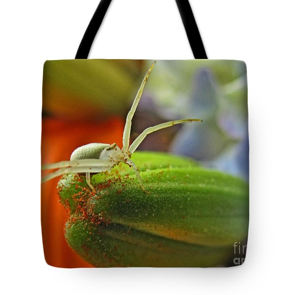 Tote Bag featuring the photograph Back Off by Debbie Portwood