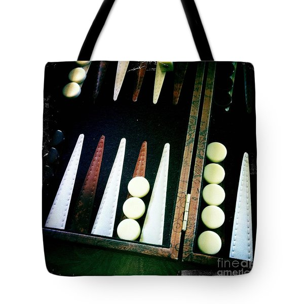 Tote Bag featuring the photograph Backgammon Anyone by Nina Prommer