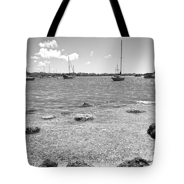 Background Sailboats Tote Bag by Betsy Knapp