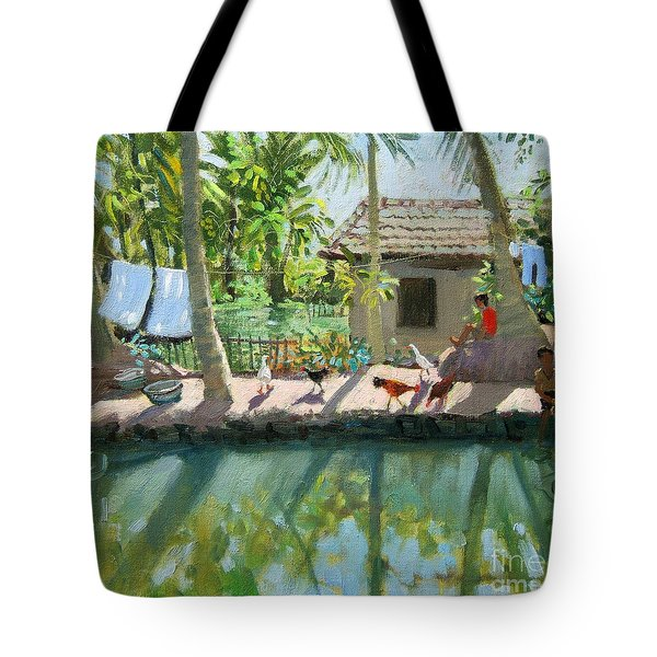Backwaters India  Tote Bag by Andrew Macara