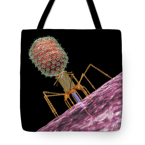 Bacteriophage T4 Injecting Tote Bag