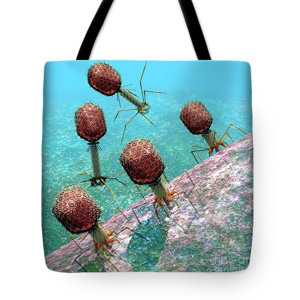 Bacteriophage T4 Virus Group 1 Tote Bag