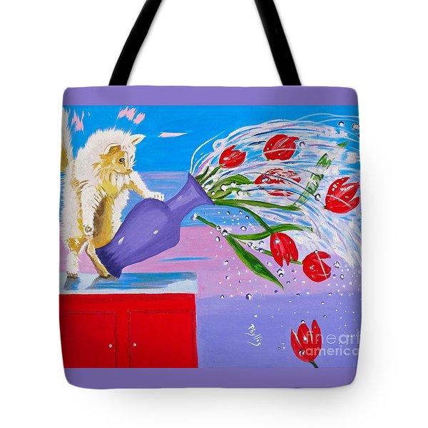 Bad Kitty Tote Bag by Phyllis Kaltenbach