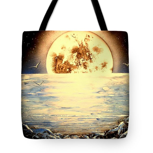 Tote Bag featuring the painting Bad Moon Rising by Greg Moores
