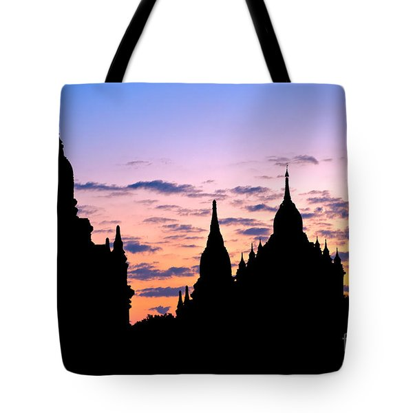 Tote Bag featuring the photograph Bagan by Luciano Mortula