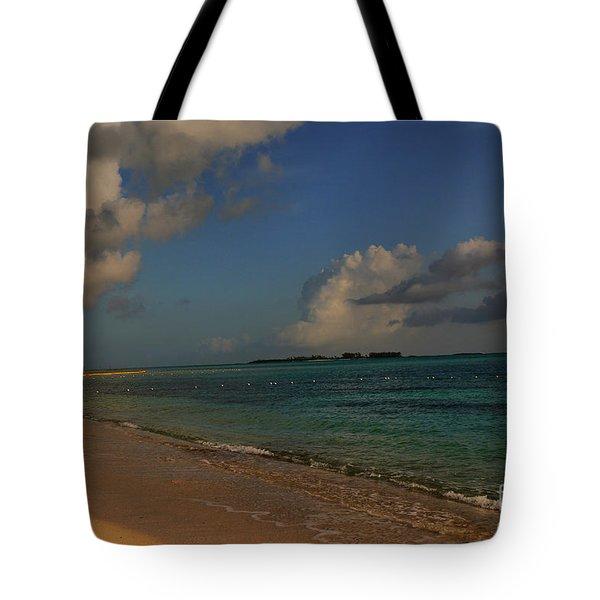Bahama Ocean View Tote Bag by Nancie DeMellia