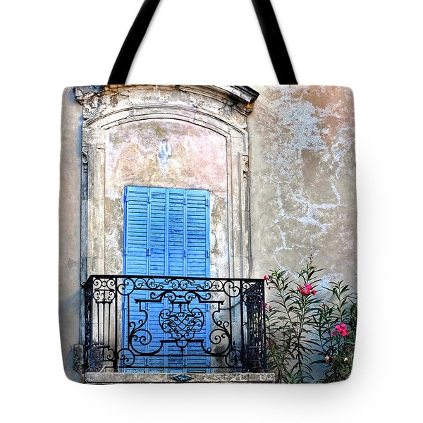 Tote Bag featuring the photograph Balcony Provence France by Dave Mills