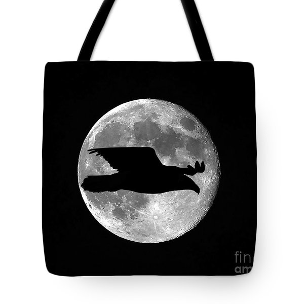Bald Eagle Moon Tote Bag by Al Powell Photography USA