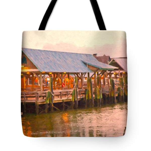 Bald Head Island Marina Tote Bag