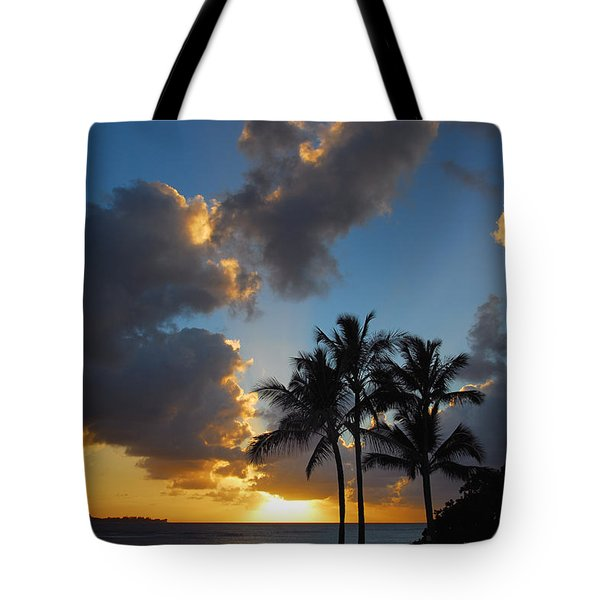Tote Bag featuring the photograph Bali Hai Sunset by Lynn Bauer
