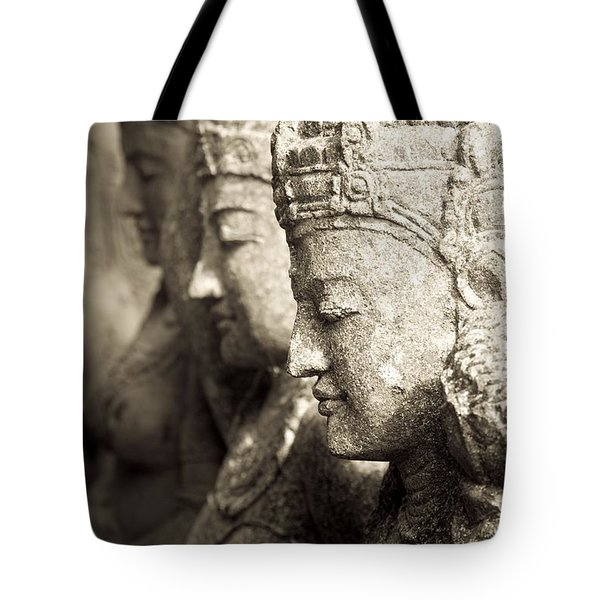 Bali, Indonesia, Asia Stone Statues Tote Bag by Keith Levit