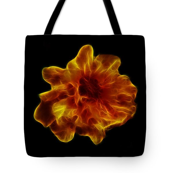 Tote Bag featuring the photograph Ball Of Fire by Lynn Bolt