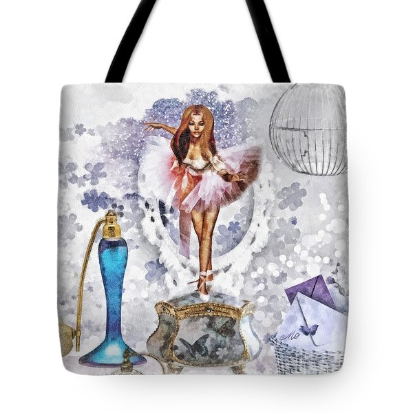 Ballerina Tote Bag by Mo T