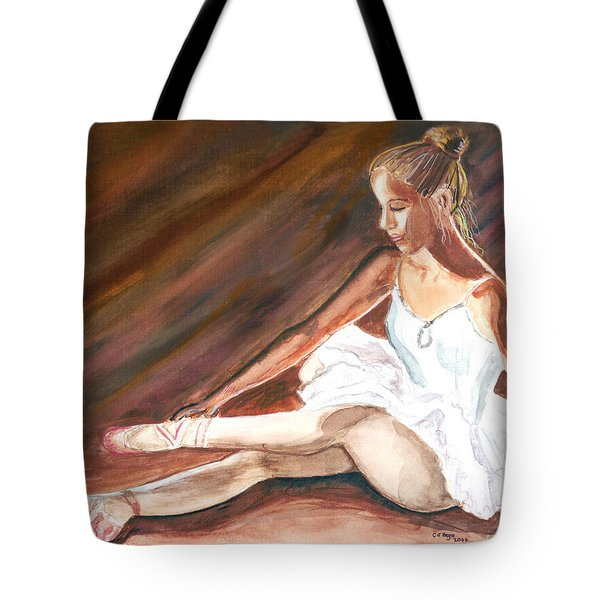 Tote Bag featuring the painting Ballet Dancer by Clara Sue Beym