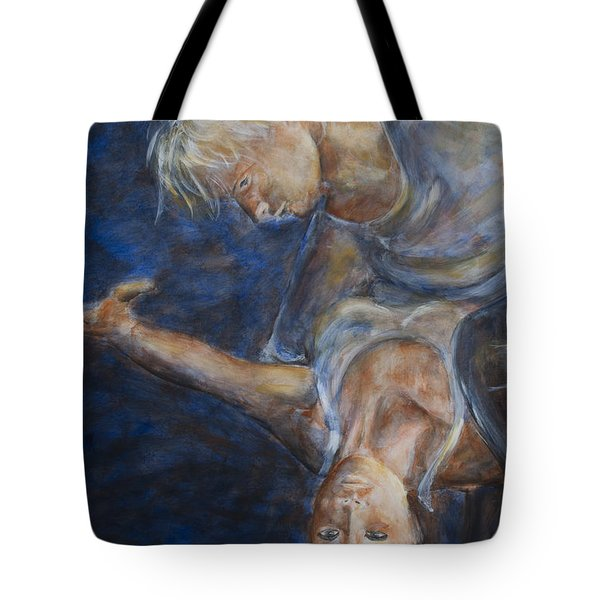 Tote Bag featuring the painting Ballet In The Dark II by Nik Helbig