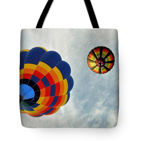 Tote Bag featuring the photograph Balloons On The Rise by Rick Frost