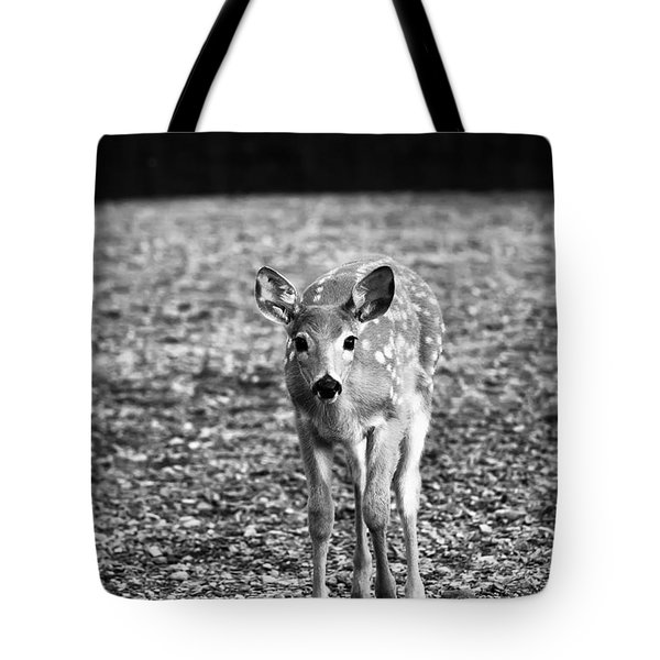 Bambi In Black And White Tote Bag by Sebastian Musial