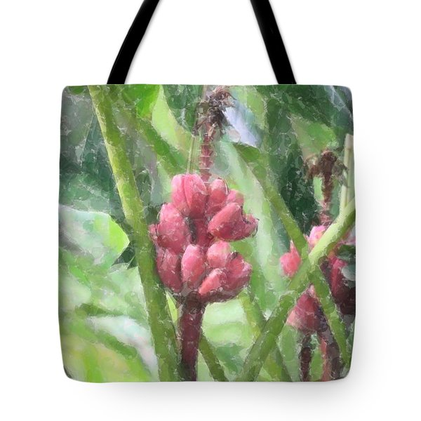 Banana Plant Tote Bag by Donna  Smith