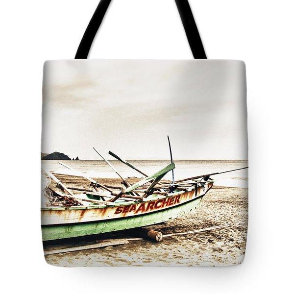 Banca Boat Tote Bag by Skip Nall
