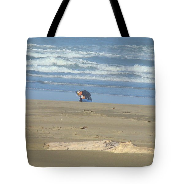 Bandon Oregon Beach Comber Prints Ocean Coastal Tote Bag by Baslee Troutman