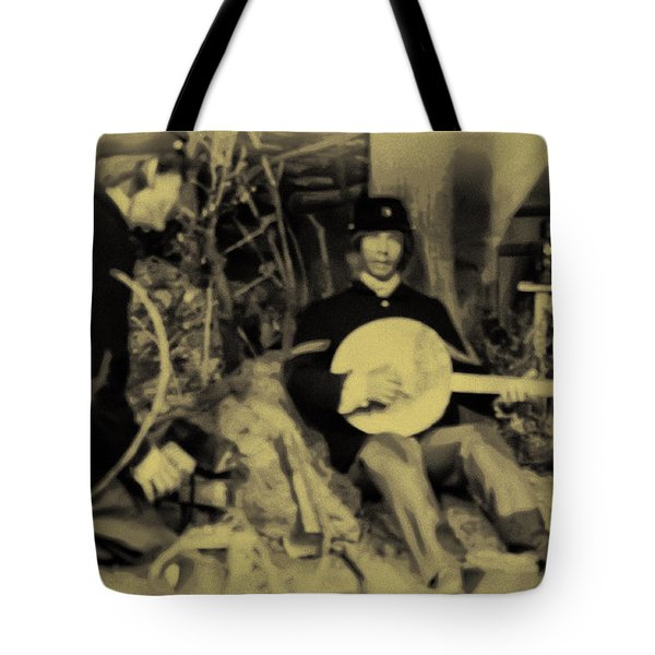 Banjo Playing Union Soldier Tote Bag by Bill Cannon