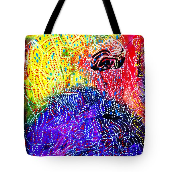 Tote Bag featuring the painting Baptism Of The Lord Jesus by Gloria Ssali