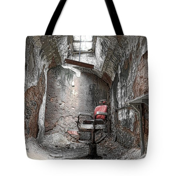 Barber - Chair - Eastern State Penitentiary Tote Bag by Paul Ward